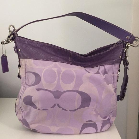 56a3f7173e56 Coach Handbags - Large Purple Coach Purse